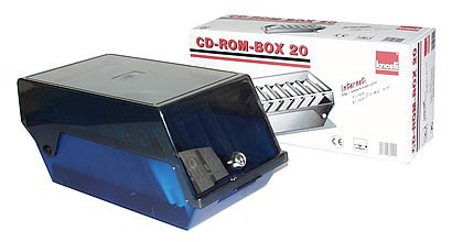 CD-ROM box 20, transparent blue