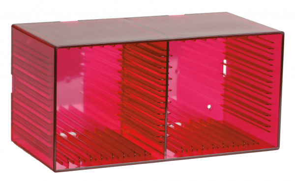 """Tango"" CD box, transparent red for 18 CDs"