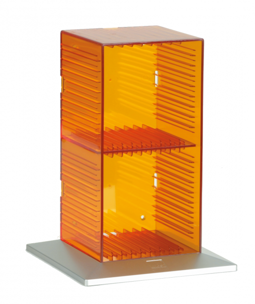 CD-Tower 18 Tango, orange für 18 CDs