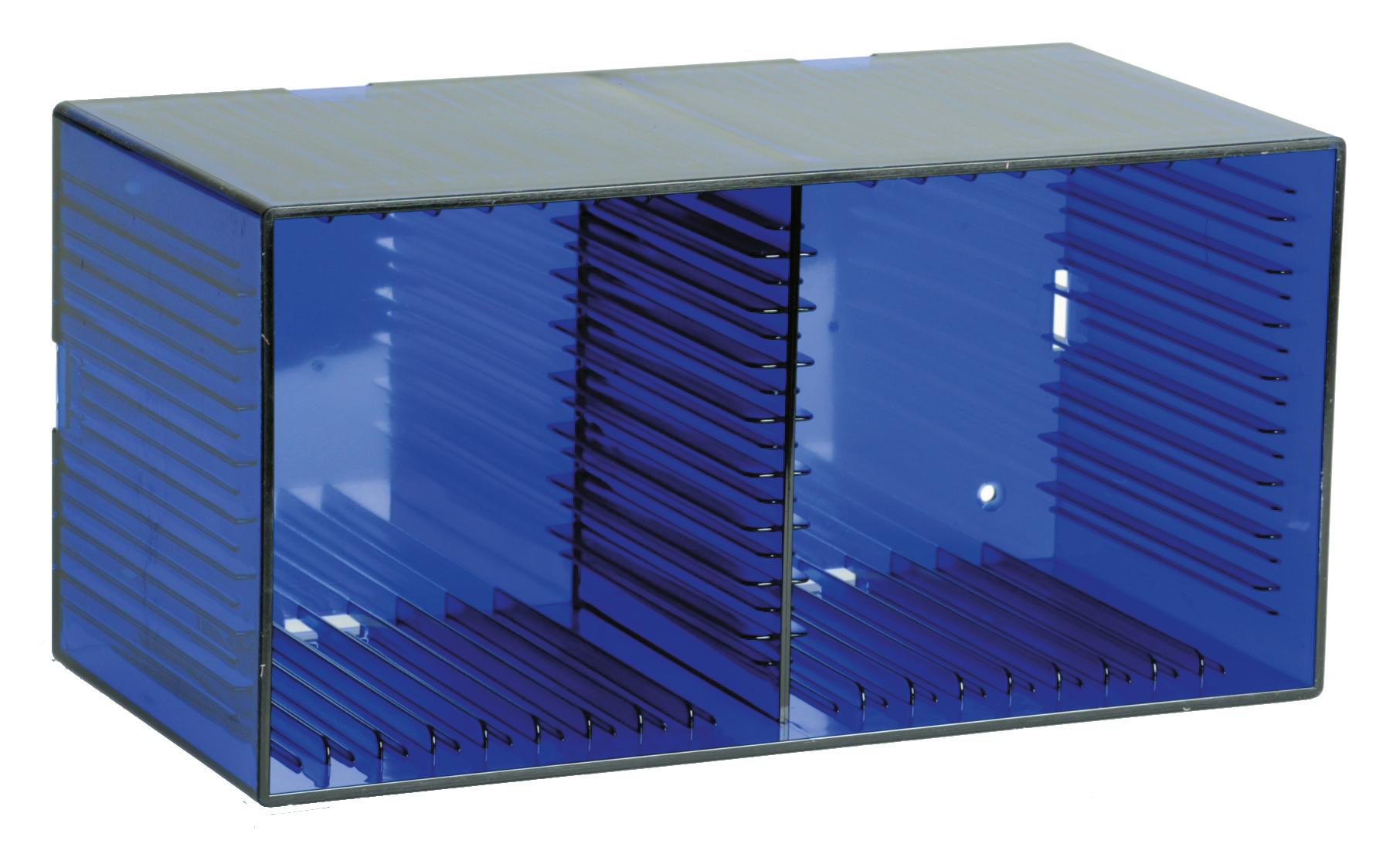 cd box tango transparent blue for 18 cds media archiving knosti. Black Bedroom Furniture Sets. Home Design Ideas